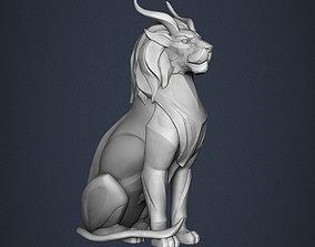 sculptures 3D print model Lion Sculpture