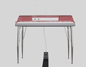 Wurlitzer Red Keyboard 3D model