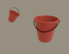 3D model rigged low-poly Bucket