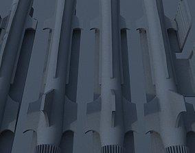 3 D Rocket system ground-air 3D asset