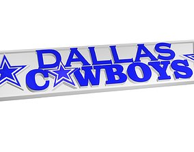 3D model Dallas Cowboys plate 3