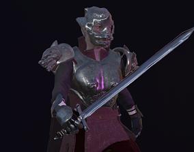 3D asset Knight wolf