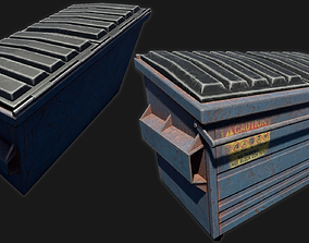 3D model Low-poly PBR Dumpster