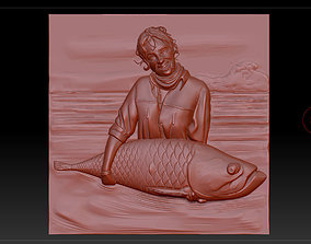 3D printable model the girl with the fish