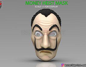 Money Heist Mask - La Casa de Papel 3D print model 5