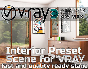 VRay Ready Interior Scene Settings and Lights Ready 3D