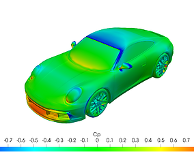Porsche 911 carrera S solid for CFD or 3D printing