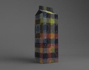 Juice Box 1L Size 3D model