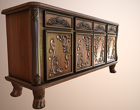 3D model realtime Luxurious Classical Cabinet