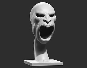 human head modern sculpture 3d print model 81