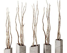 Branch decor vase slice n2 3D model