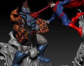 Superman Vs Darkseid from DC Comics 3D print model 3