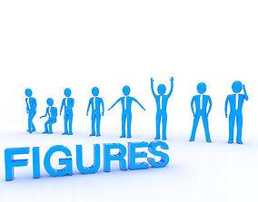Business Figures 3D asset
