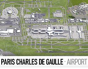 3D model Paris Charles de Gaulle Airport - CDG