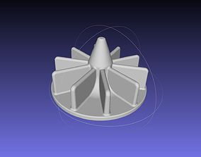 3D printable model Small Radial Pump Impeller Magnet