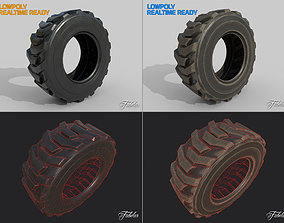 Loader tyre collection 3D model