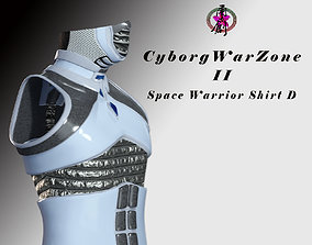 Cyborg Warzone - Space Warrior Shirt D 3D asset