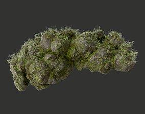 3D model HD Floating Mossy Rock 09 191205