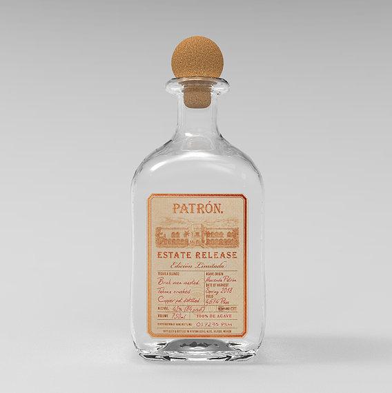 Tequila Patron Estate Release Bottle