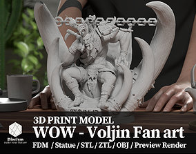 3D print model World of warcraft Voljin statue fanart -