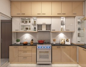 3D model Free Kitchen Cabinet With render Emage