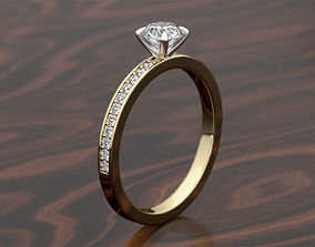 Engagement Pave Ring 3D printable model
