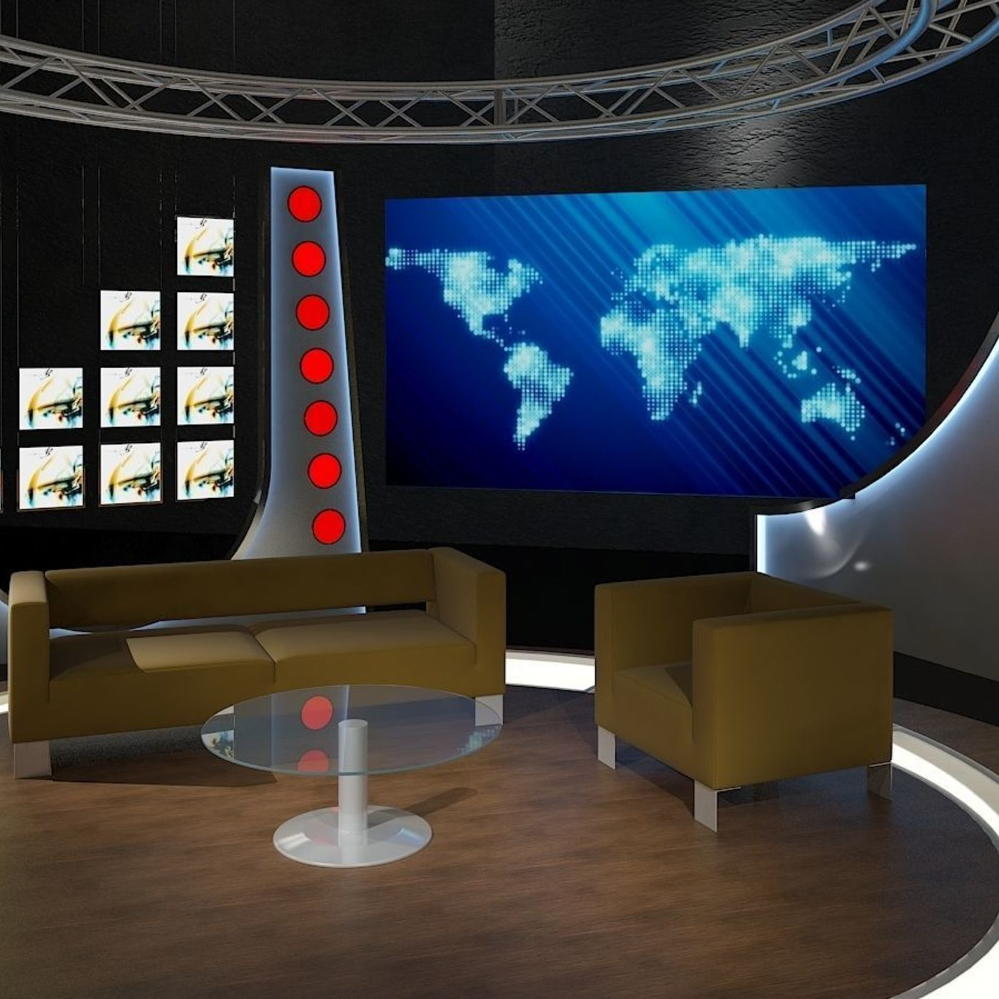 Virtual TV Studio Chat Sets Collection 12