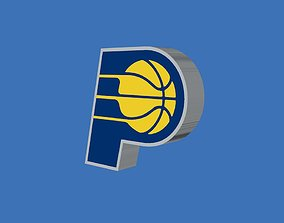 3D model Indiana Pacers Team Logo
