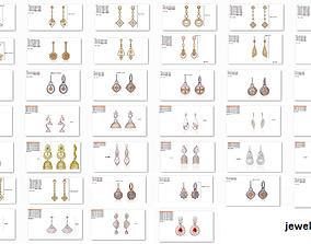 3D printable model 50 Women Fancy Diamond Earrings 1