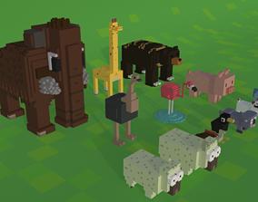 Voxel Animals Pack 3D asset