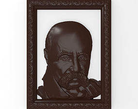 Taras Shevchenko bas relief for CNC 3D printable model