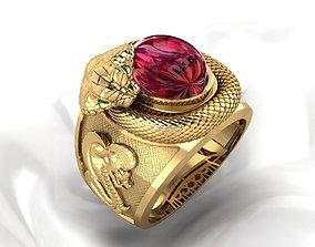 3D printable model Cobra Men Ring