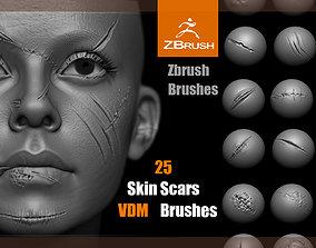 3D ZBrush Scars VDM Brush
