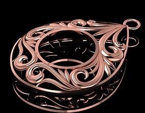 3D print model Carved necklace 01