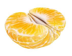 Peeled tangerine half 3D