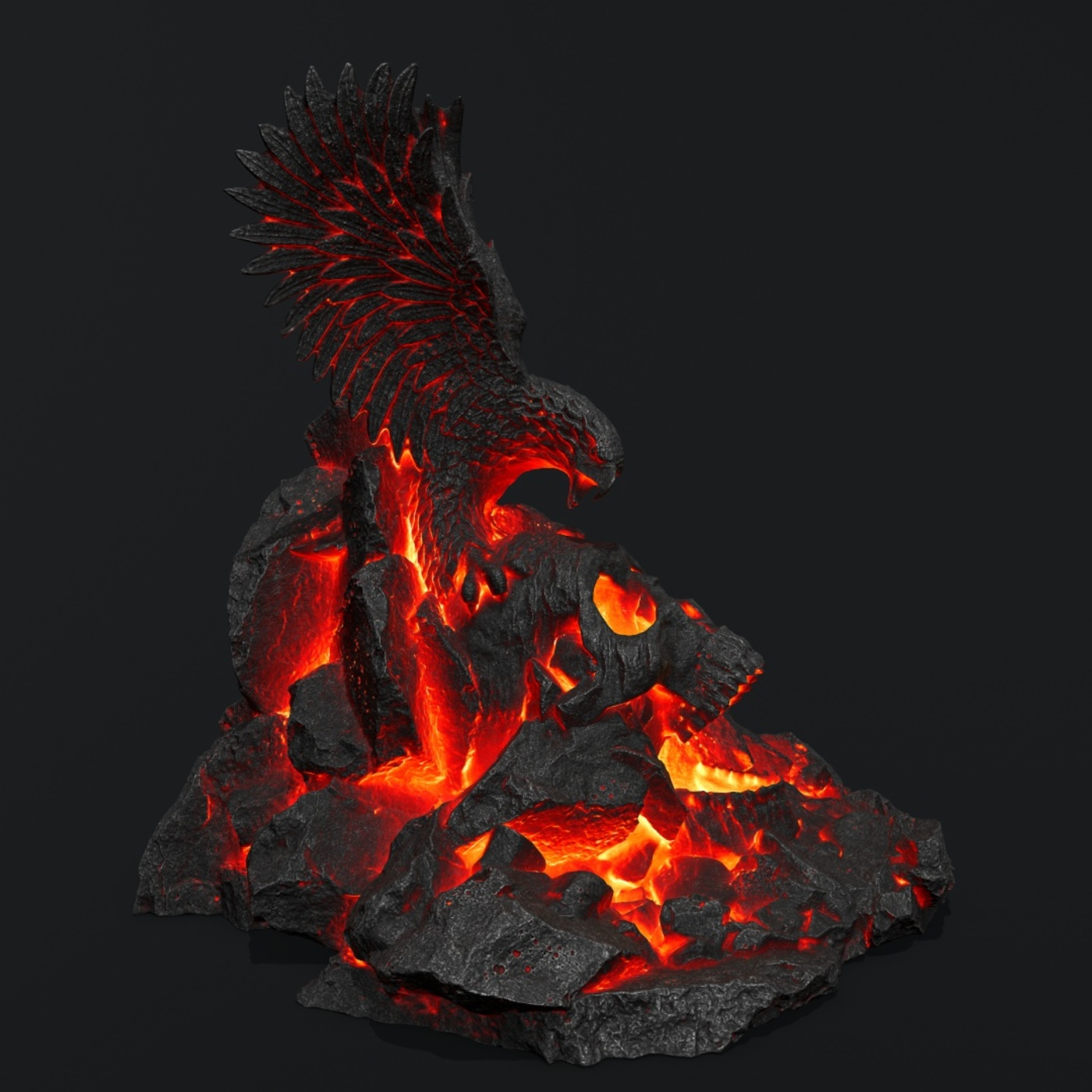 lava skull