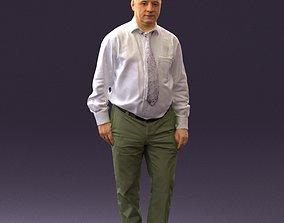 Man in white tshirt 0712 3D model