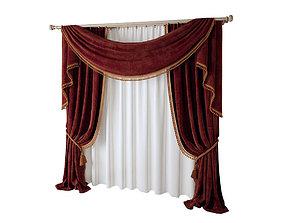 3D curtain 003 three materials fabric