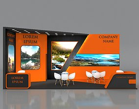 Fair Booth Exhibition Stand Stall 8x4m Height 360 cm 3D 2