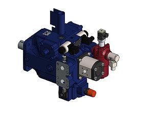 3D model Pump A4VSG 71 EO1 Bosch Rexroth
