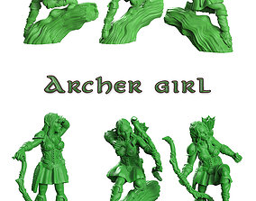 3D print model Archer girl wood elf