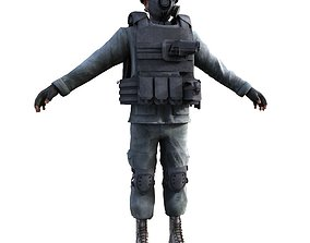 3D model Rigged Counter Terrorism