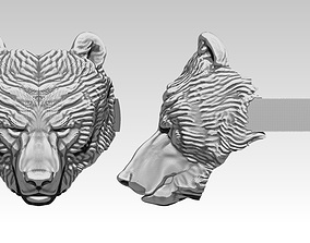 3D print model Grizzly Bear Detailed Ring