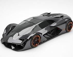 terzo 3D model Lamborghini Terzo Millennio