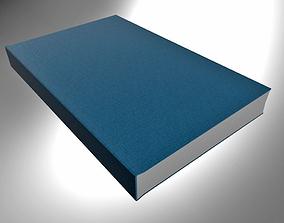 3D Hardcover Book Light Blue closed