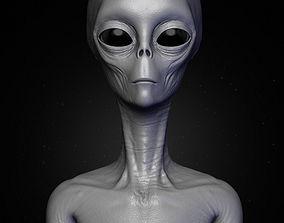 Realistic Alien 4 Sculpt 3D model