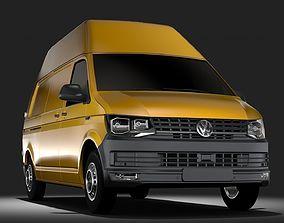 3D Volkswagen Transporter Van L2H3 T6 2017