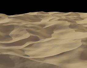 3D model Sand Dunes Desert Landscape Procedural