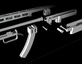 3D print model PPSH Rear frame