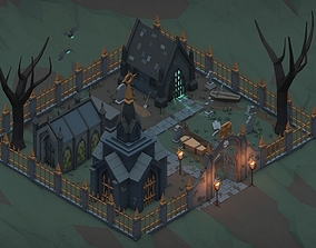 Scary Fantasy Halloween Pack 3D asset low-poly
